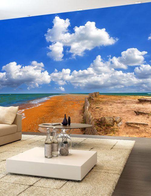Carta da Parati Spiaggia Rossa  Carta da Parati Fotomurale Tema Paesaggi