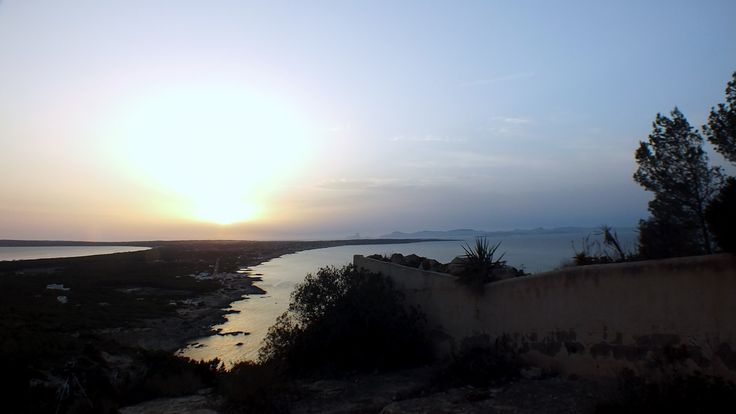puesta de sol # camino romano# Formentera #Ibiza# Me gusta Formentera