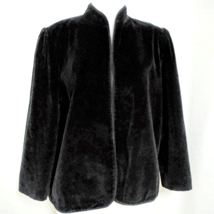 Chaqueta terciopelo negro, talla L (precio original 50€) ENVÍO GRATIS