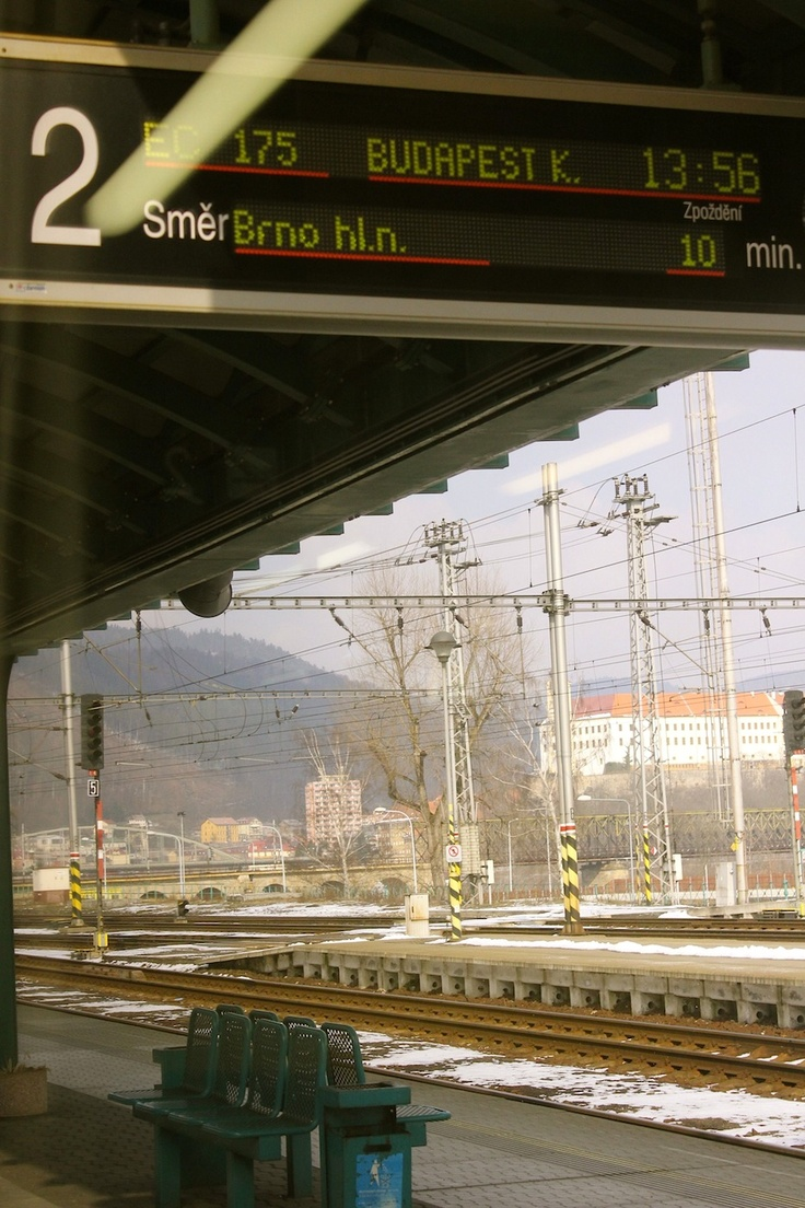 March 15, 2013. Crossing the boarder from Germany to Czech Republic by train we enter the town of Decin.