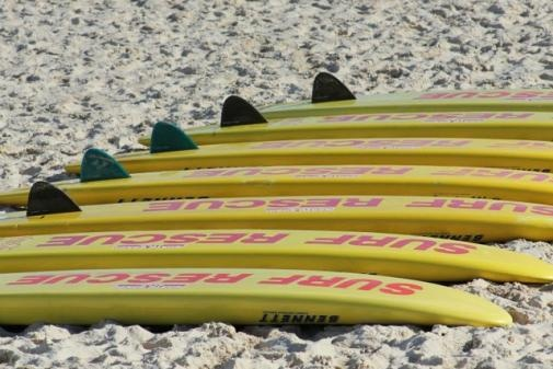 Sunny side up by Bjorn  Rescue board cleaning Bondi beach