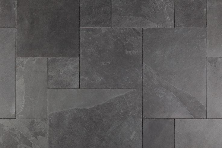 Slate Tile - Versailles Pattern - Montauk Black / Versailles Pattern