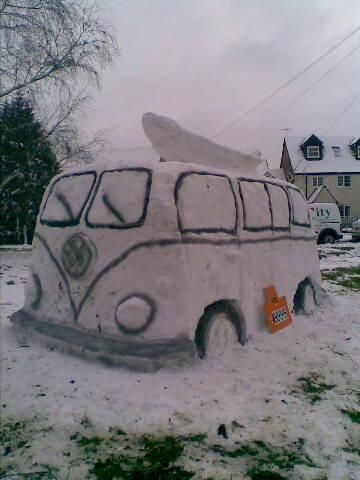 """Check out this """"snowman""""! VW Style indeed!"""