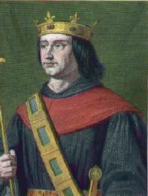 Philippe VI de Valois, roi de France. - Pendant l'invasion du comte de Derby, Jean L'Archevêque, sir de Parthenay, capitaine du roi de France Philippe de Valois pour le Poitou, sentant venir les conflits, fait réparer les fortifications de multiples chateaux en sa possession en y entretenant des garnisons d'hommes en armes.