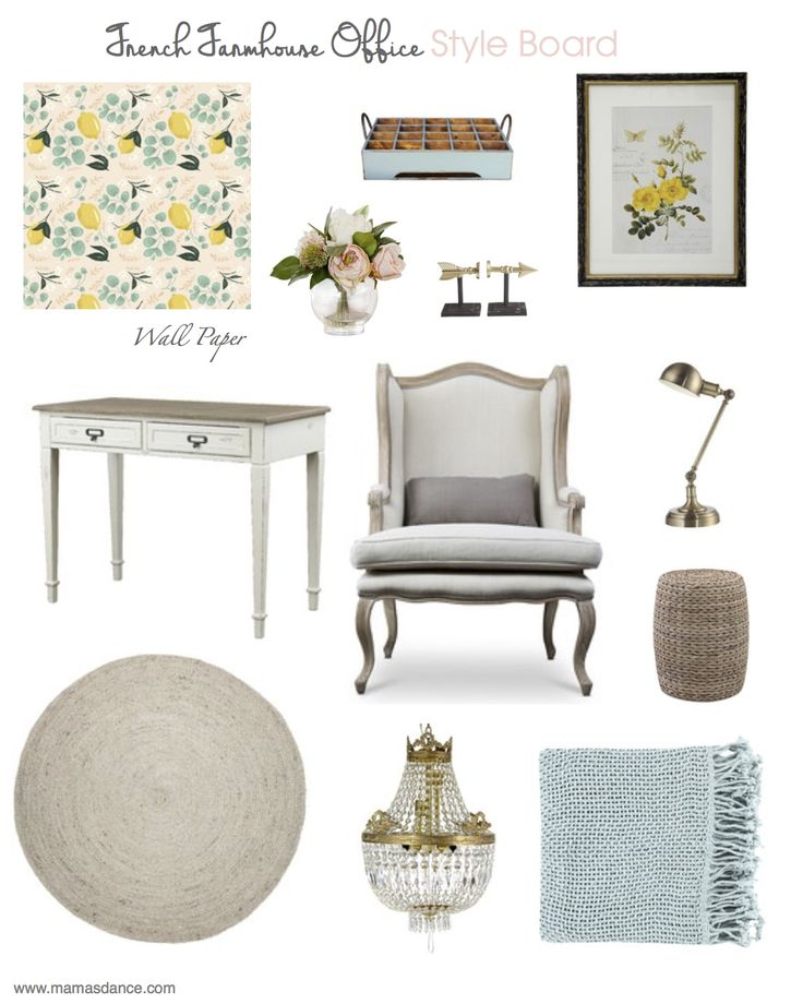 french farmhouse office | style board | This Mamas Dance