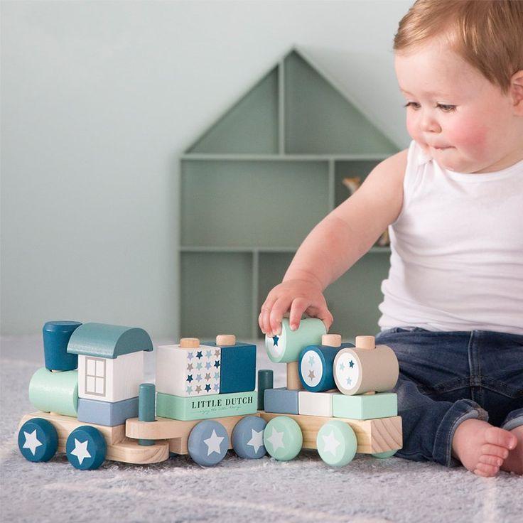 TIAMO vláček - bílá/modrá   Kašpárek Baby