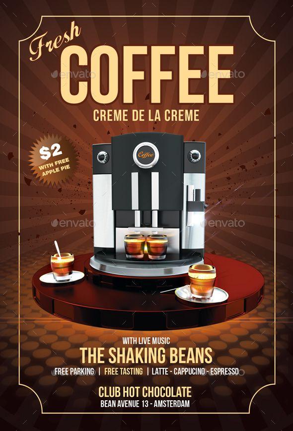 coffee flyer  print