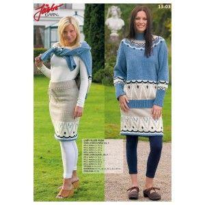 Stickmönster - Tröja och kjol