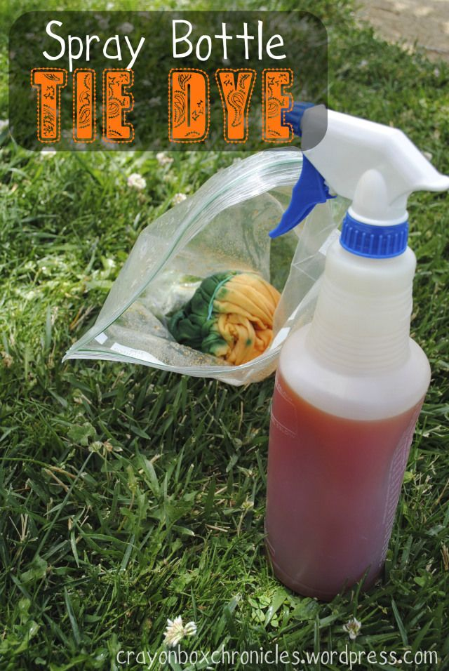 Spray Bottle Tie-Dye