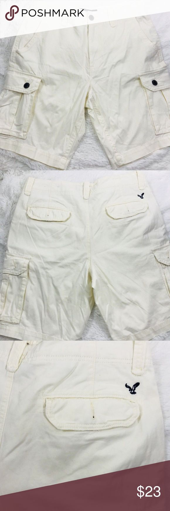 American Eagle Flex Classic Cargo Shorts Size 33 American Eagle Flex Classic Cargo Shorts Khaki Ivory Size 33  New With Out Tag's 100% Authentic   Any Questions Please Ask Before Purchasing  Will Ship With In 24 Hours   Check Out Our Other GREAT Items In Our POSH Closet American Eagle Outfitters Shorts Cargo
