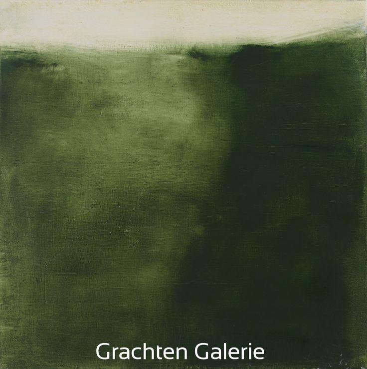 Z.t. 12 | Andre Hoppzak | Schilderij | Painting | Kunst | Art | Groen | Green | Wit | White | Grachten Galerie