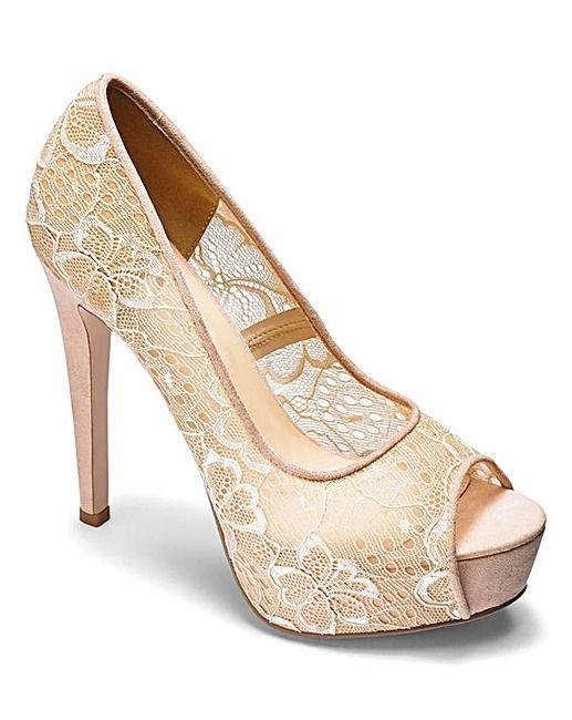 Little Mistress Lace Platform Shoe D Fit | Simply Be