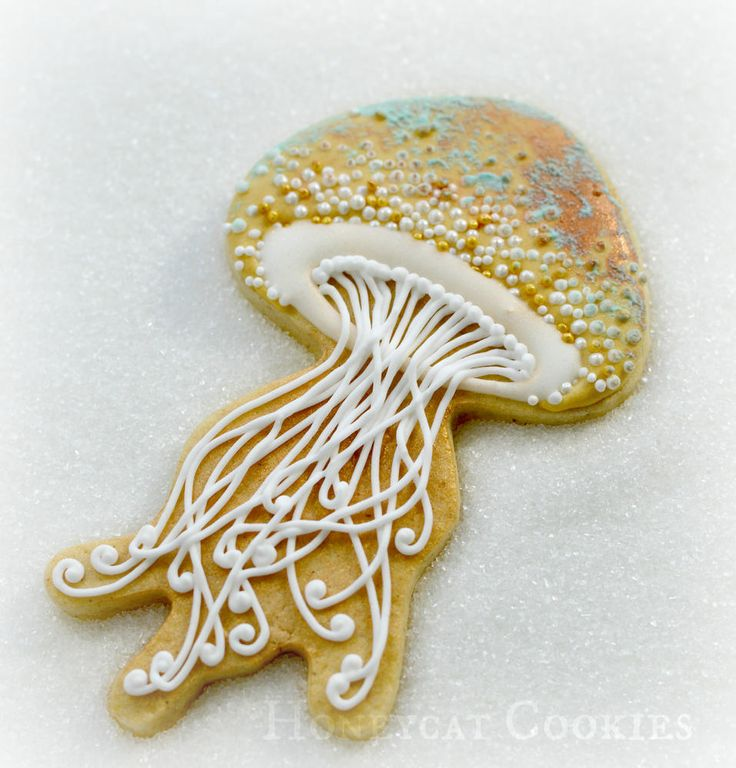Seaside cookies | Cookie Connection Most beautiful jelly-fish ever!