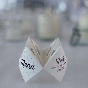15 menus de mariage au design unique