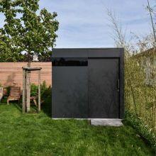 Flachdach gartenhaus modern pinteres - Gartenhaus modern metall ...
