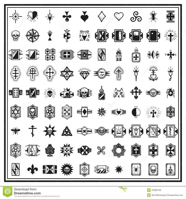 Tatouages Criminels Russes De Doigt Illustration de Vecteur - Image: 41289149
