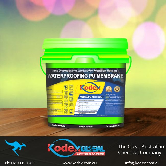 Now protect your roof gardens and planter boxes with high-quality single component elastomeric polyurethane membrane, Kodex PU Anti Root. Its special properties make it easy to spread and prevent penetration of the membrane by plant roots. Click here to find more: http://www.kodex.com.au/wp-content/uploads/2015/02/Kodex-PU-ANTI-ROOT.pdf