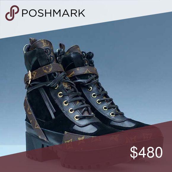 Louis Vuitton Military Boots Please Dm our Ig:laluxlounge we offer the best quality Women's & Men's Designer fashion up to 75% off retail !! Louis Vuitton Shoes Lace Up Boots