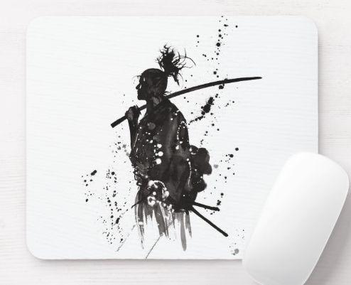 Mouse pad , Samurai style , Awesome Samurai . #Tattoos #awesome #mouse #samurai… #Tattoos