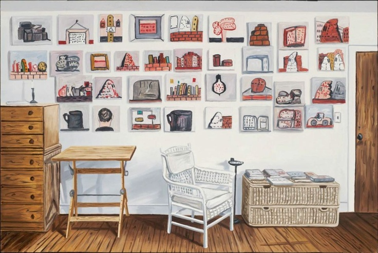 richard bosman(1944- ),  philip guston's room, 2009. oil on canvas, 152.4 x 213.4 cm. museum of fine arts, boston, usa  http://www.mfa.org/collections/object/philip-guston-s-room-537325