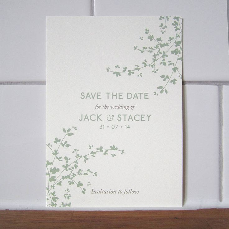 Delicate Foliage Save The Date Card 30