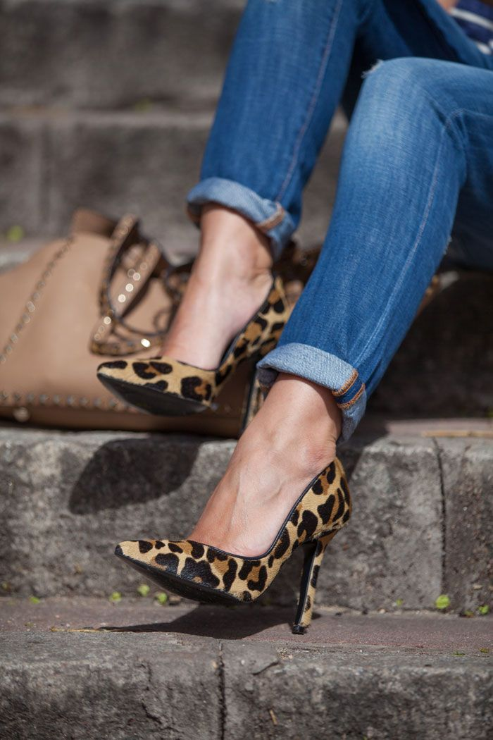 Stripes And Leopard Lovely Pepa By Alexandra Shoes