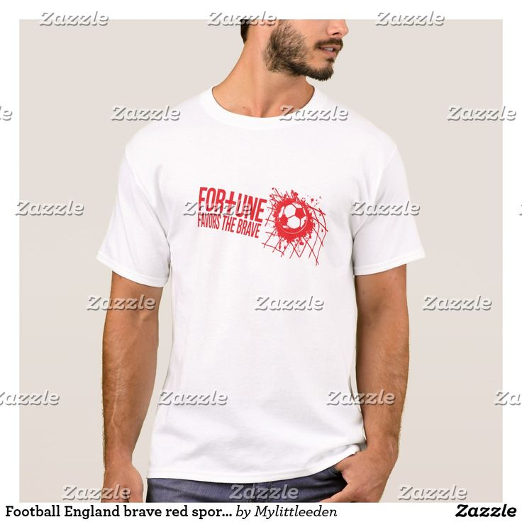 Football England brave red sports slogan t-shirt