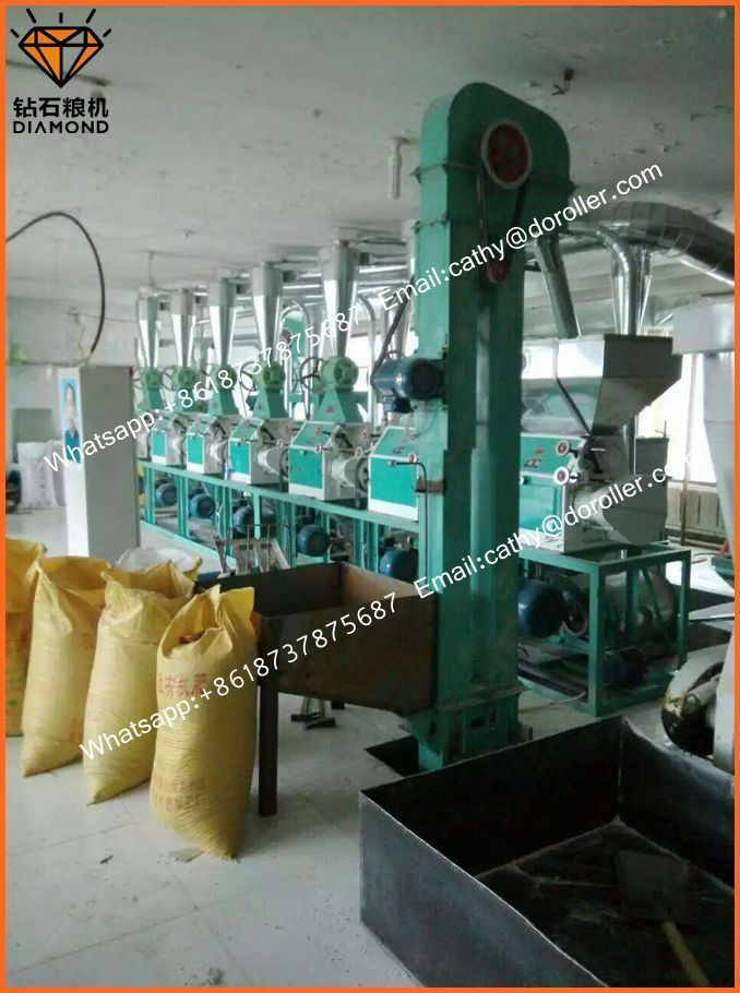60 ton maize flour mill machine with low price