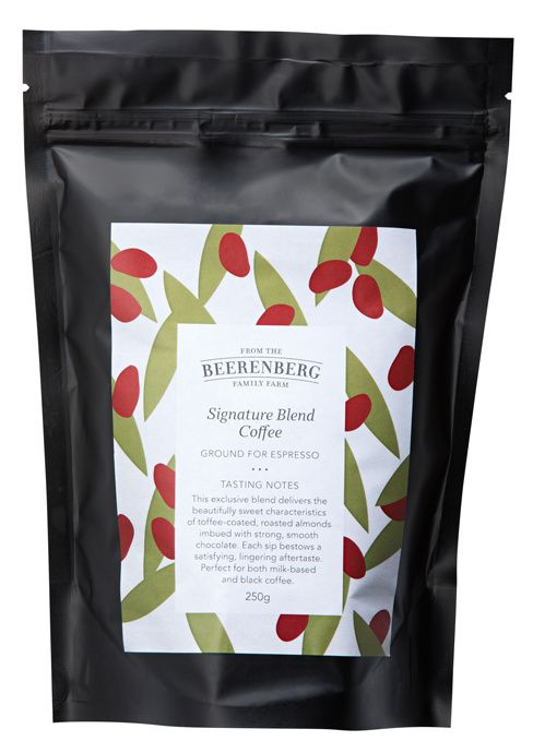 The Beerenberg Signature Blend Coffee delivers the beautifully sweet characteristics of toffee-coated, roasted almonds imbued with strong, smooth chocolate. Yum! Try yours today. #Chocolate #Coffee #Beerenberg #iChooseSA