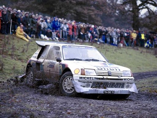 Peugeot 205 T16 Group B Rally Car amazing photo who ever took it should be proud