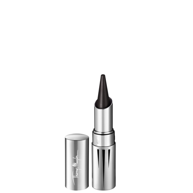 Latex Khol Eyeliner - Housed in a magnificent metal jewel case, Latex Khol eyeliner by Thierry Mugler intensifies any look with a powerful, sensual line and creamy texture that shines like latex.