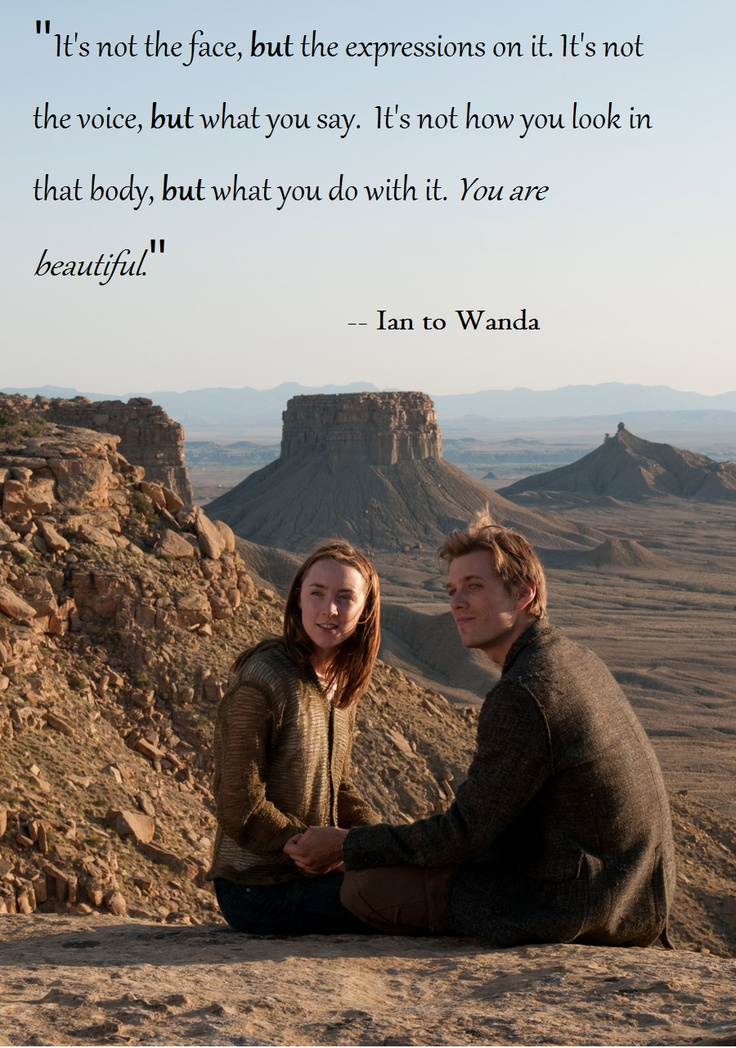 wanda and ian (The Host) --my favorite quote from the book :)