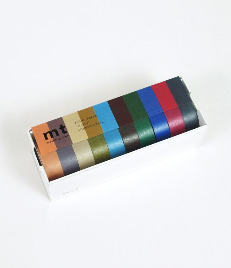 MT Washi Tape - Gift Box - Ten Rolls Dark Colours by ZigZakka on Etsy