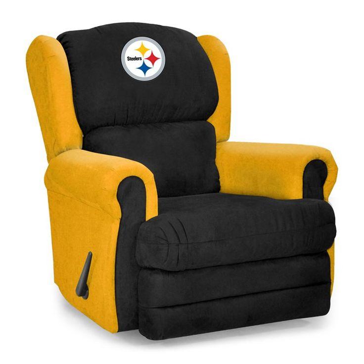 Pittsburgh Steelers Microfiber Coach Recliner