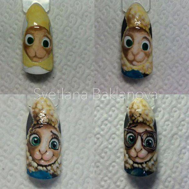 Дизайн ногтей мультяшки пошагово