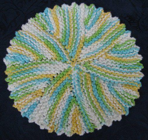 Free Knitting Pattern - Dishcloths & Washcloths : Picot Swirl Cloth