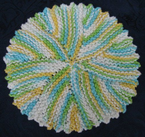 Free Knit Potholder Patterns : Free Knitting Pattern - Dishcloths & Washcloths : Picot Swirl Cloth was...