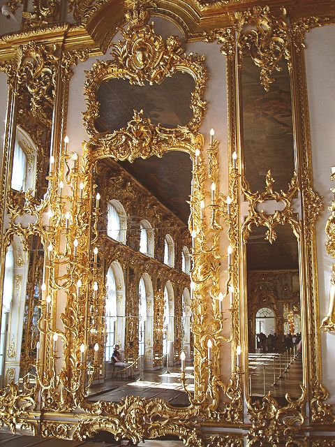 The Ballroom of Catherine Palace, Tsarskoe Selo, Russia