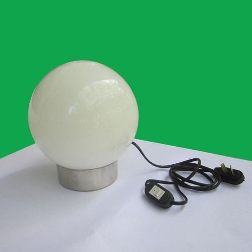 Velador Globo Esfera De Vidrio, Base De Aluminio 1 Lámpara - $ 209,99