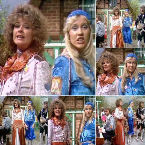 """Today in 1974 Abba appeared on TV in West Germany where they performed """"Waterloo""""... #Abba #Agnetha #Frida http://abbafansblog.blogspot.co.uk/2017/04/11th-april-1974.html"""