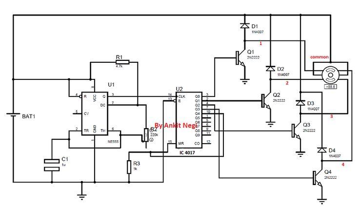 pin circuits for unipolar stepper motors on pinterest