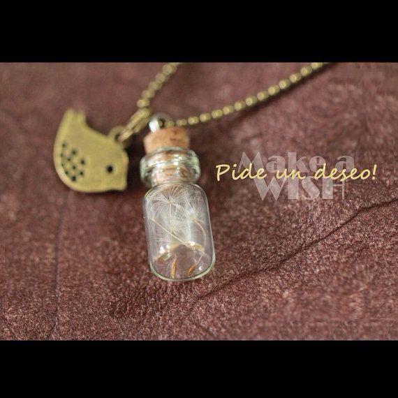 Dandelion Minimalist Necklace    Make a Wish  by MONARCASHOP, $15.00