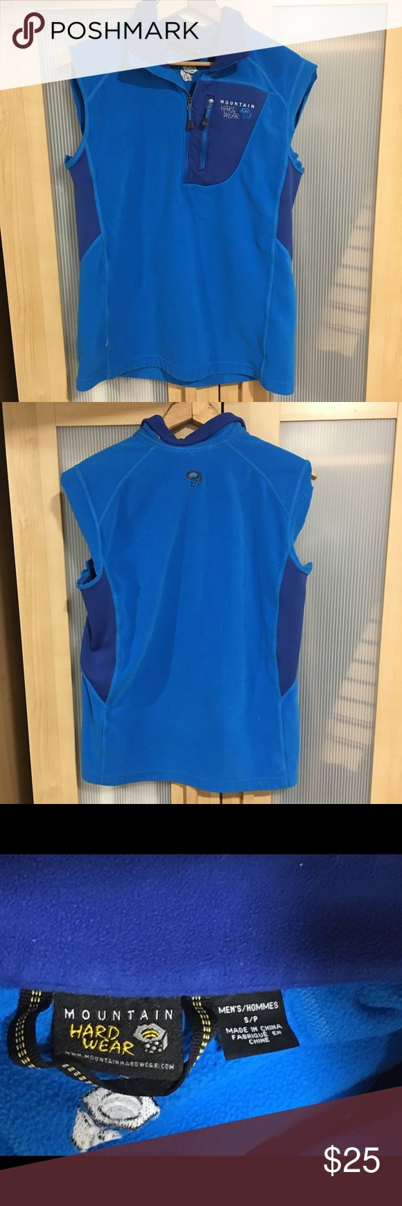 Mountain Hard Ware Half Zip Vest Mountain Hard Ware Half Zip Vest in blue. Excellent used condition. Includes a zipper pocket on chest of vest. Mountain Hard Wear Jackets & Coats Vests
