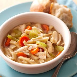 how to make chicken noodle soup with leftover chicken