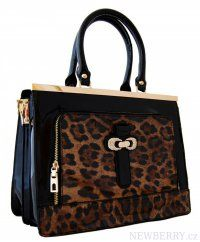 Elegantní lesklá černá kabelka do ruky fasco Berlin 2002-1032