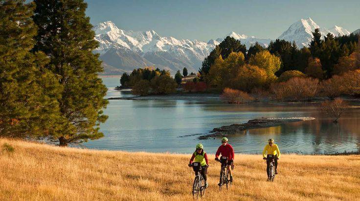 Fahrradtour in Neuseeland - Buchen Sie jetzt - Singapore Airlines. Lake Pukaki, Canterbury