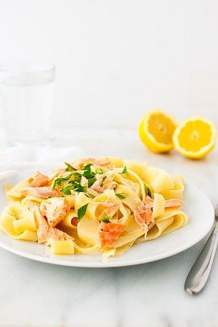 Light and Creamy Lemon Pasta with Salmon | 19 Delicious Dinners You Can Make With Salmon Fillets
