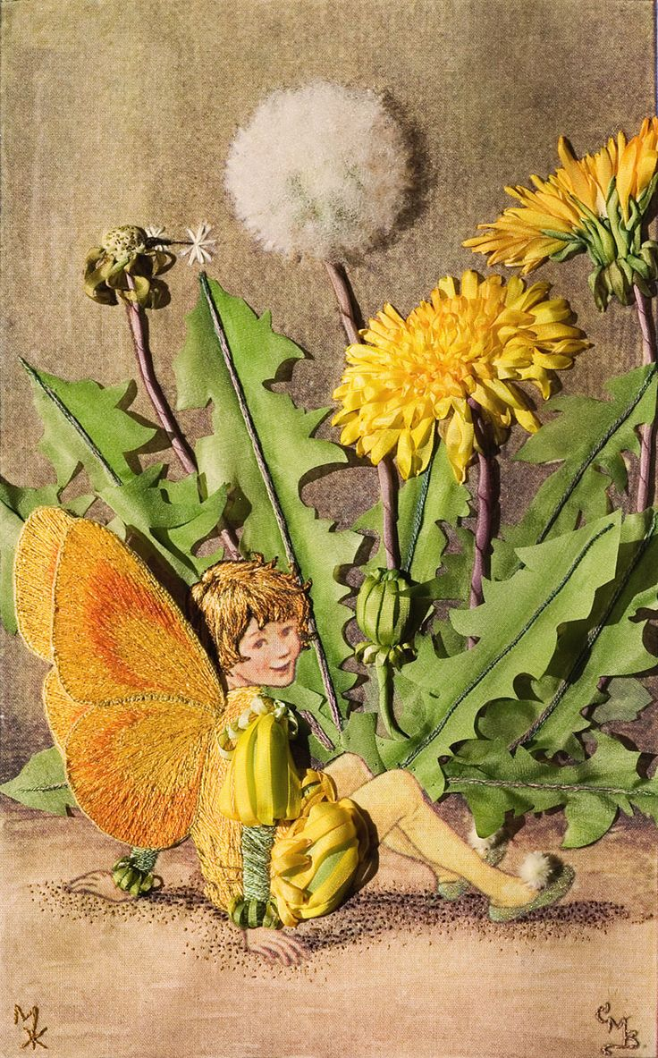 Dandelion Flower Fairy by Marina Zherdeva from Moscow. Click on image to enlarge
