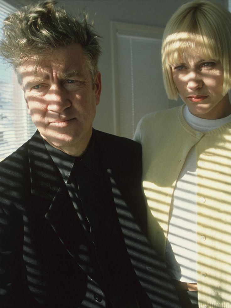 David Lynch & Patricia Arquette filming Lost Highway (1997)