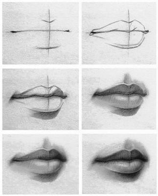 como aprender a dibujar labios 4